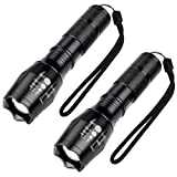LED Flashlight - EachTong Lumen XML-T6 Handhold Flashlight-Portable, Zoomable, Waterproof, Super Brightness with 5 Light Modes for Indoor and Outdoor Use, 2 pack (Batteries Not Included)