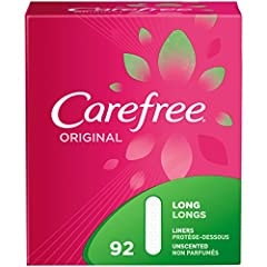 Carefree Original Thin Panty Liners offer daily protection that comfortably stays in place so you don't have too! Classic rectangular liners provide trusted, no-feel protection from light leaks, unexpected periods and everything in between. U...