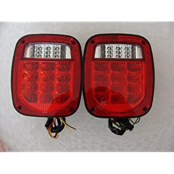 jeep tj cj yj replacement tail lights red lens. Black Bedroom Furniture Sets. Home Design Ideas