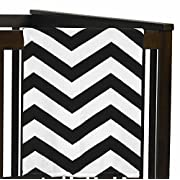 Sweet Jojo Designs Black and White Chevron Plush Fleece Throw Receiving Crib Baby Girl Blanket
