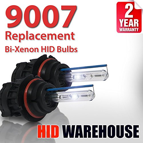 HID-Warehouse AC HID Xenon Replacement Bulbs - Bi-Xenon 9007 10000K - Dark Blue (1 Pair) - 2 Year Warranty
