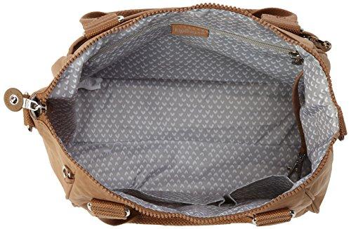 Kipling AMIEL BP - Bolso de hombro de material sintético para mujer, talla 27x25x15 cm (B x H x T) Marrón - Marron (Dazz Tobacco C)