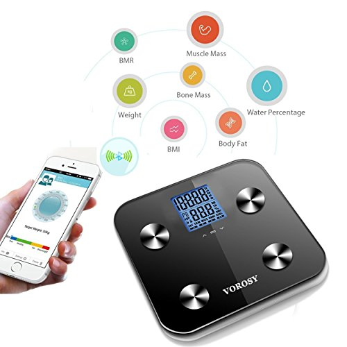 Bluetooth Smart Body Fat Scale & Body Composition Monitor with Free Fitness App and Extra Large Display FREE PROFESSIONAL APP...