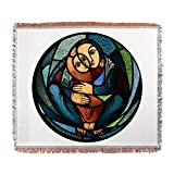 Woven Blanket Stained Glass Mother and Child