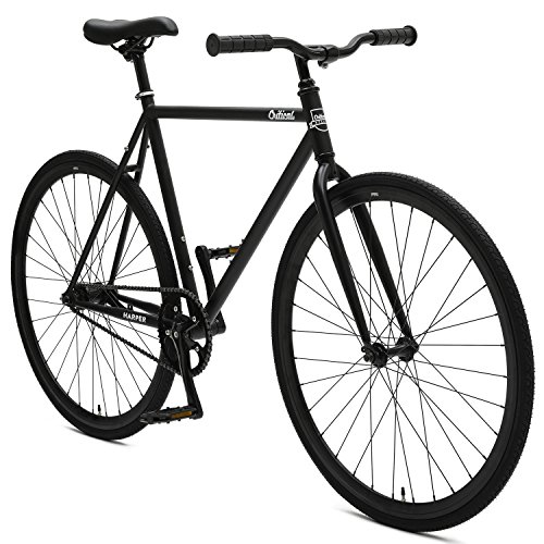 Critical Cycles 2901 Harper Coaster Fixie Style Single-Speed Commuter Bike with Foot Brake, 57cm, l, Matte Black