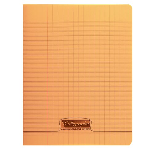 Calligraphe Pack Of 3 Bound Calligraphy Book Stitched Polypropylene 24 X 32 Cm - 96 Pages Sey Ruling - 90 G-Orange