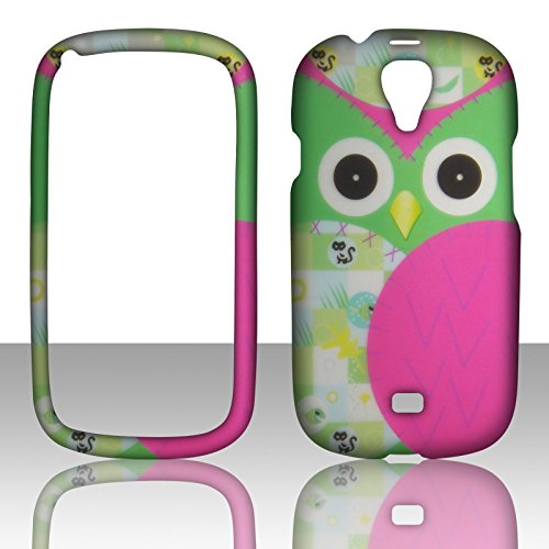2D Green Owl Samsung Galaxy Stratosphere 2 II i415 Verizon Case Cover Hard Phone Case Snap-on Cover Hard Shell Protector Cover Phone Hard Case