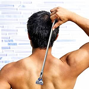 Gillette Fusion Extendable Handle Add On,Body/Back Hair Removal, Non Slip Grip Handle, Safe and Practical