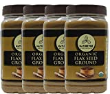 Naturevibe Botanicals Organic Flax Seed Powder 4lbs (4 Pack of 1lbs Each)