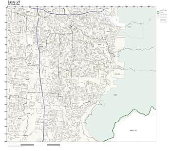 Amazon.com: ZIP Code Wall Map of Sandy, UT ZIP Code Map Not ... on summerville sc maps, spokane wa maps, springfield il maps, sandy utah, savannah ga maps, sandy city street map, sandy oregon maps, stockton ca maps,
