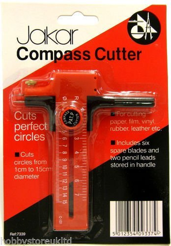 Jakar Compass Circle Cutter Cuts Perfect Circles for Pape...