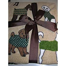 Pet Lounge Ultra Plush Pet Blanket Throw - Dogs in Coats