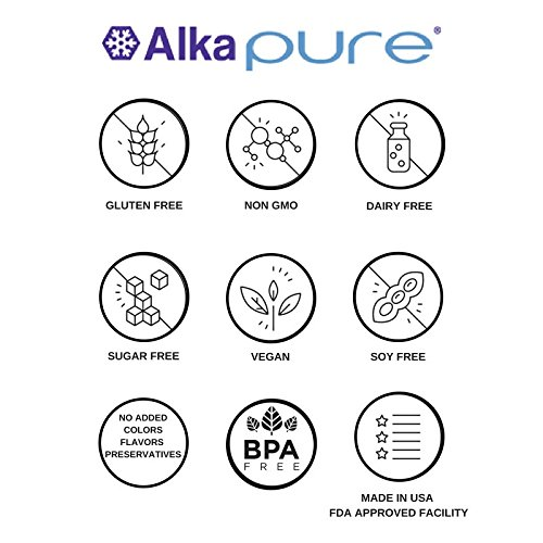 The Original Alkaline Water and Electrolyte Concentrate by Alka-Pure | 9.5+ pH Filtered Water | Sugar Free | 60 Pack | 30 Day Supply by Alka-pure GoPak (Image #6)