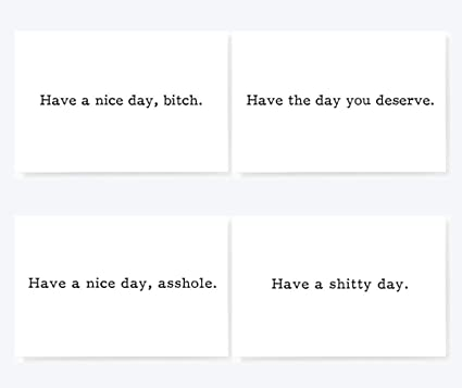 Amazon have a nice day bitch sarcastic mixed mini greeting have a nice day bitch sarcastic mixed mini greeting cards set of 20 sarcastic greeting note m4hsunfo