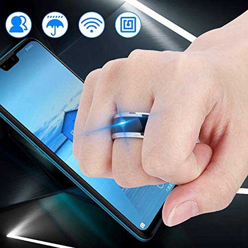 Vikye Smart Ring, Built-in Ultra-Sensitive NFC Chip, Metal Material Easy to Use NFC Smart Ring, for Mobile Phone(size9)