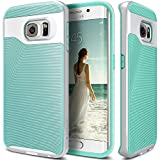 Galaxy S6 Edge Case, Caseology® [Wavelength Series] Textured Pattern Grip Cover [Turquoise Mint] [Shock Proof] for Samsung Galaxy S6 Edge (2015) - Turquoise Mint