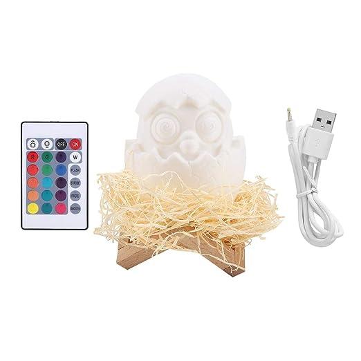 La impresion 3D huevos lámpara, control remoto usb de carga ...