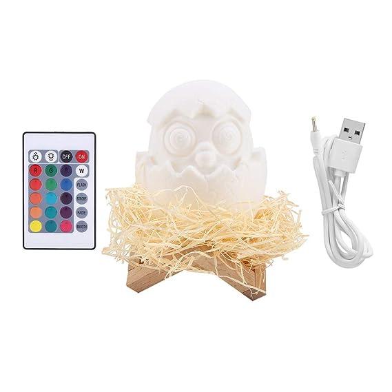 La impresion 3D huevos lámpara, control remoto usb de carga 16 ...