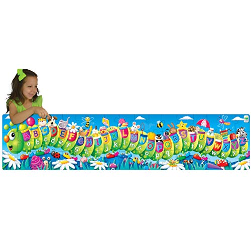 Abc Caterpillar - The Learning Journey Long and Tall Floor Puzzle, Multicolor