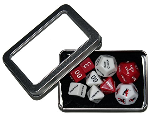 Love Dice – Spicy Fun Game for Adult Couples – Funny Gift for Bachelor, Bachelorette, or Bridal Shower Party (9 Dice)