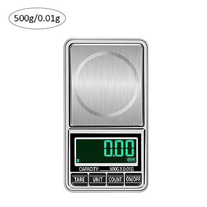 Báscula electrónica de cocina de acero inoxidable Pantalla de alta definición con pantalla LED de alta