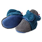 Zutano Unisex Baby Extra Warm Fleece Baby Booties, 6M, Gray/Pagoda