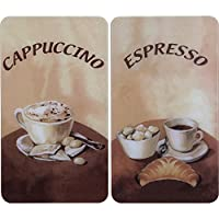 WENKO 2521280100 Herdabdeckplatte Universal Kaffee - 2er Set, für alle...
