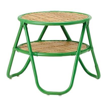 Ikea nipprig 2015 ratán mesa auxiliar en verde; (47 cm)