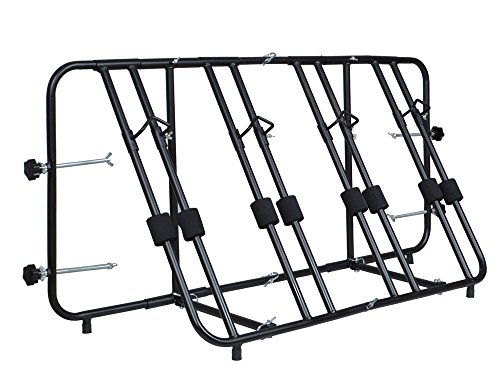 TMS %TruckBedBikeCarrier-PB4 Bike Carrier Rack (4 Bicycle, Truck Pick up Bed Mount Full & Compact New)