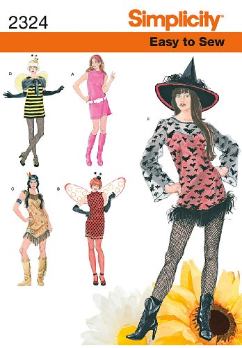 Simplicity Sewing Pattern 2324 Misses' Easy to Sew Costumes, A (XS-S-M-L-XL)]()