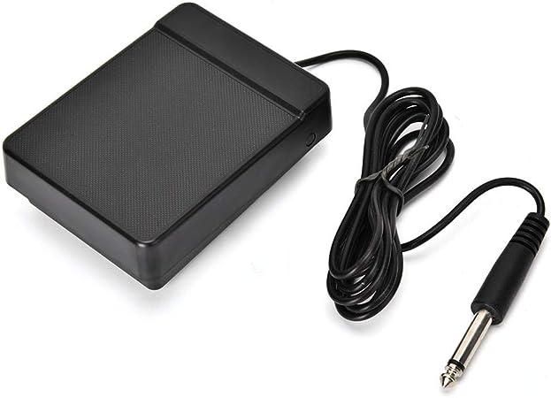Pedal de piano electrónico, universal para niños 6,35 pies controlador de pedal único sostenido de un solo pie para teclado de piano