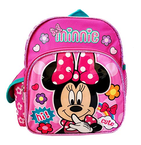 Disney Minnie Mouse 10 inch Mini Toddler Backpack - Cute Pink