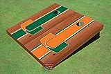 University of Miami Orange Rosewood Alternating Long Strip Cornhole Boards - Um-1019