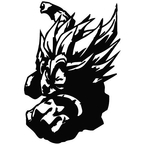 Dragon Ball Saiyan Goku - Cartoon Decal Vinyl Removable Decorative Sticker for Wall, Car, Ipad, Macbook, Laptop, Bike, Helmet, Small Appliances, Music Instruments, Motorcycle, Suitcase