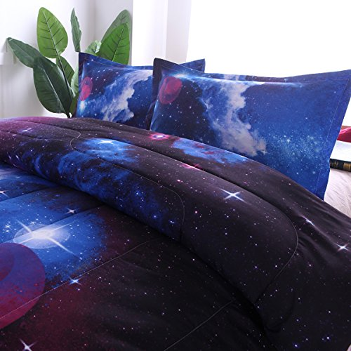 NTBED Galaxy Comforter Set maximal Size Sky Oil Printing Outer Space Bedding Sets