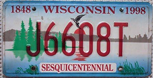 Us Nummernschild Wisconsin Kennzeichen Usa License Plate Auto Schild Küche Haushalt