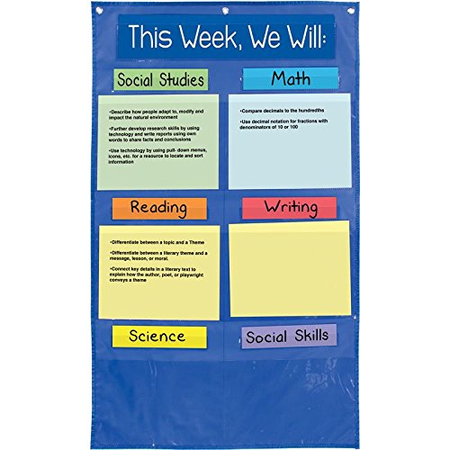 Really Good Stuff 163730 Learning Goals Pocket Chart