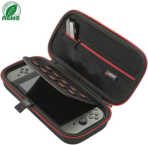 Nintendo Switch Carrying Case by RLSOCO-with 10 Game Card Slots, Fit for Nintendo Switch Console, Joy-cons and other Accessories