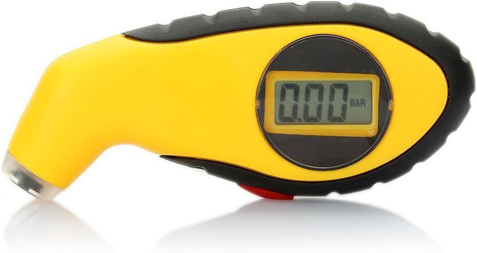 jaune WINOMO LCD Digital Auto voiture moto Air pneu pneu manom/ètre testeur de pression