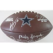 2017 Dallas Cowboys, Team, Signed, Autographed, Logo Football, a COA with the Proof Photos of the Cowboys Players Signing the Football Will Be Included