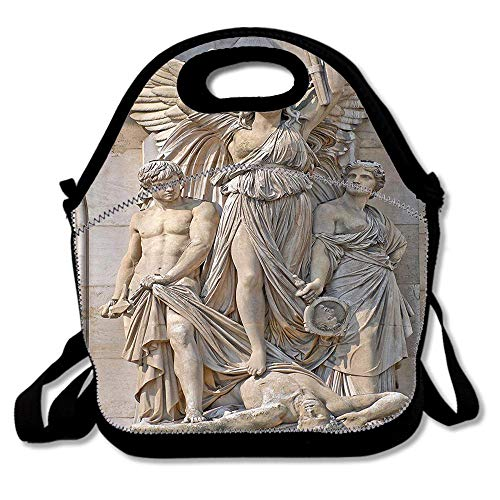 Sculpture Composition at the Facade of the Opera Garnier Paris Historical Masonry Artwork Insulated Lunch Tote Bento Box Organizer with Zipper Pocket Adjustable Shoulder Strap Outdoor Travel -