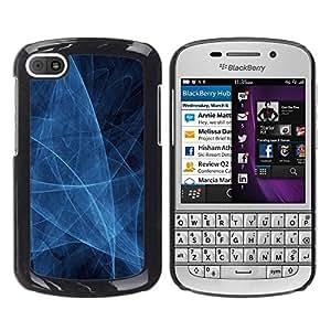 Desorientada Blanca espasmo - Metal de aluminio y de plástico duro Caja del teléfono - Negro - BlackBerry Q10