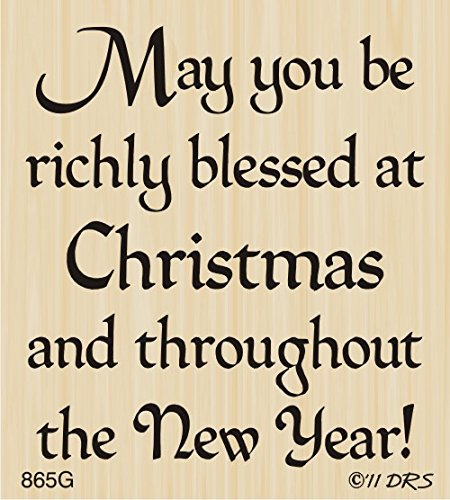 Richly Blessed Christmas Greeting By DRS Designs (Merry Christmas And Happy New Year Lettering Design)