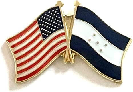 USA FRANCE FRIENDSHIP CROSSED FLAGS LAPEL PIN NEW COUNTRY PIN
