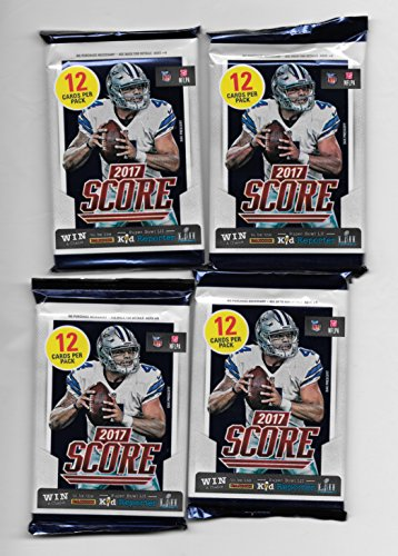 2017 NFL Score Football Cards Factory Sealed Retail Panini 4 Pack