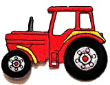 Nipitshop Patches Red Car Tractor Vegetable Farm
