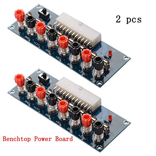 CHENBO 2pcs 24 Pins ATX Benchtop Power Board Computer PC Power Supply Breakout Module Adapter 12V 5V 3.3V (Dc Dc Atx Power Supply)