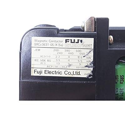 Fuji Electric SRCA3631-05/X Magnetic Contactor, 2.8-4.2-AMP 3-POLE 200-220V Coil