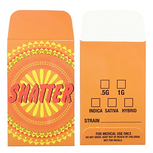 1000 Orange Shatter Labels Extract Wax Strain Coin Envelopes #136 by Shatter Labels