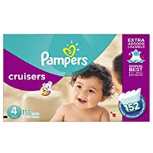 Pampers Cruisers Diapers Size 4, Economy Plus Pack, 152 Count